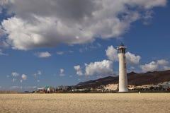 Маяк на пляже Стоковые Фотографии RF