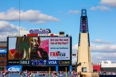 Маяк на стадионе Gillette, Foxboro, МАМАХ. стоковое фото rf