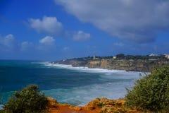 Маяк на Cascais, Португалии стоковая фотография rf