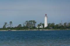 Маяк на Lake Huron Стоковая Фотография