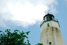 Маяк Нью-Джерси крюка Sandy на красивый солнечный день Стоковое фото RF