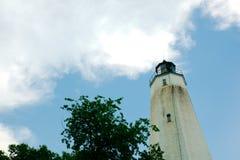 Маяк Нью-Джерси крюка Sandy на красивый солнечный день Стоковые Фотографии RF