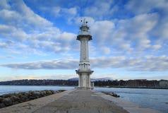 маяк озера geneva Стоковое фото RF