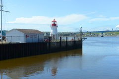 Маяк основания службы береговой охраны St. John, N.B., Канада Стоковое Изображение RF