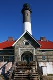 маяк острова пожара входа к Стоковые Фото