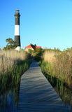 маяк острова пожара променада Стоковая Фотография