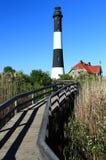 маяк острова пожара Стоковые Изображения RF