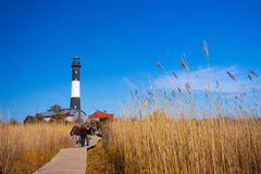 маяк острова пожара стоковое фото rf