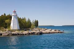 маяк острова шлюпки к tobermory взгляду Стоковая Фотография