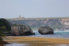 Маяк острова Mona Стоковые Фотографии RF