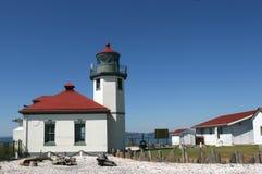 маяк пляжа alki Стоковые Фото