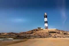 Маяк пляжа kapu Mangalore стоковые изображения rf
