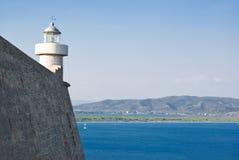 Маяк Порту Ercole, Тосканы в Италии Стоковые Фото
