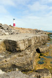 Маяк Портленда Билла на острове Портленда Дорсета Англии Великобритании Стоковое Фото