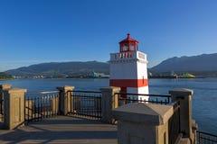 Маяк пункта Brockton в Ванкувере ДО РОЖДЕСТВА ХРИСТОВА Стоковые Фото