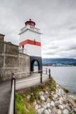 Маяк пункта Brockton в Ванкувере, Канаде Стоковое Фото