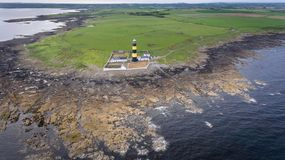 Маяк пункта St. John графство вниз Северная Ирландия стоковые фотографии rf