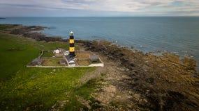 Маяк пункта St. John графство вниз Северная Ирландия стоковое изображение