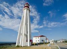 маяк Пункт-au-Pere, Квебек стоковое изображение