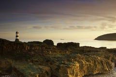 маяк рассвета светлый Стоковая Фотография