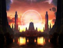 Маяк света в метрополии чужеземца Стоковые Фотографии RF