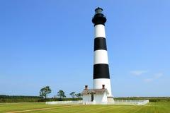 маяк света острова 1872 полос черный построенный bodie горизонтальный был бел Стоковое Изображение RF