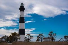 маяк света острова 1872 полос черный построенный bodie горизонтальный был бел Стоковые Изображения
