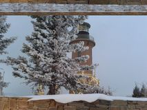 Маяк снега Стоковое Изображение