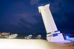 Маяк согнутый Morelos Мексика Puerto стоковое фото
