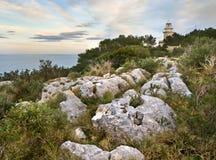 маяк среднеземноморской Стоковое Изображение
