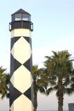 Маяк с пальмами Стоковые Фотографии RF