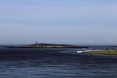 Маяк с форта Popham Стоковая Фотография