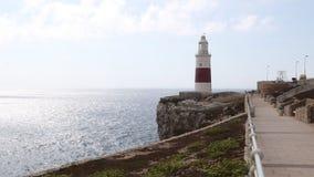Маяк троицы, пункт Европы, Гибралтар видеоматериал