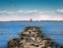 Маяк чесапикского залива Стоковое Изображение