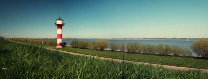 Маяк Эльба Германия - панорама стоковое фото