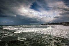 маяк biarritz Стоковое Изображение RF