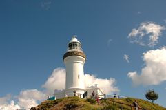 маяк byron залива Австралии Стоковое Фото