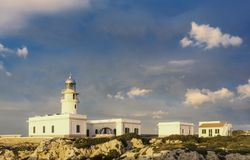 маяк cavalleria на побережье Minorca Стоковая Фотография