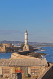 маяк chania Стоковое фото RF