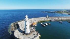 Маяк Co Donaghadee вниз с Северной Ирландии стоковые изображения