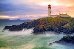 Маяк Fanad, Co Donegal, Ирландия Стоковая Фотография