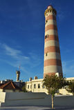 Маяк Farol da Barra, Португалия Стоковая Фотография