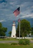 маяк flagpole Стоковое Фото
