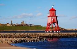 маяк groyne защищает юг Стоковая Фотография