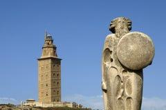 маяк la coruna Стоковые Фотографии RF