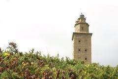 маяк la coruna Стоковое Изображение