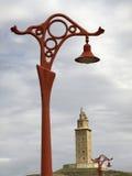 маяк la coruna Стоковые Изображения RF