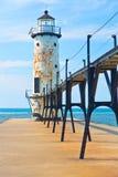 Маяк Lake Michigan Стоковая Фотография RF