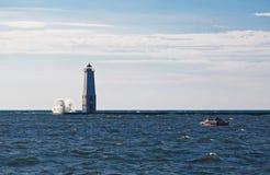Маяк Lake Michigan Стоковое Изображение