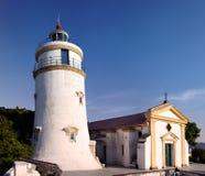 маяк macau guia форта фарфора молельни Стоковая Фотография